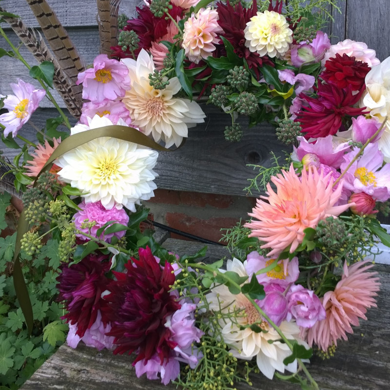 Photo of Sympathy and funeral flowers a wreath by Florist Babylon Flowers Watlington