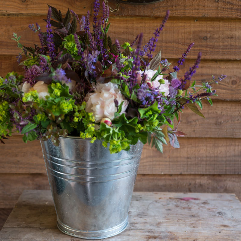 Florist in Watlington Oxfordshire picture of a bucket of flowers