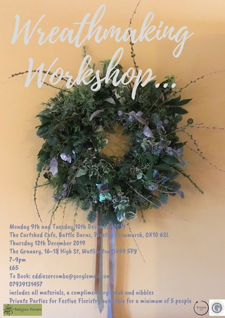 Wreath Making  Workshop for Christmas Oxfordshire