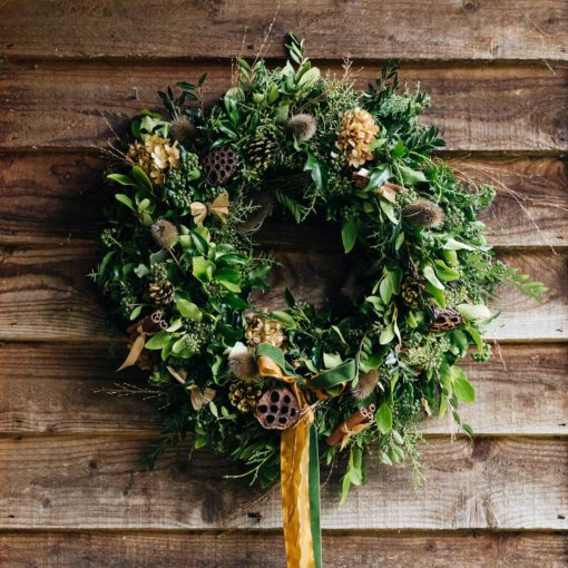 Florist Oxfordshire Christmas Gold Wreath