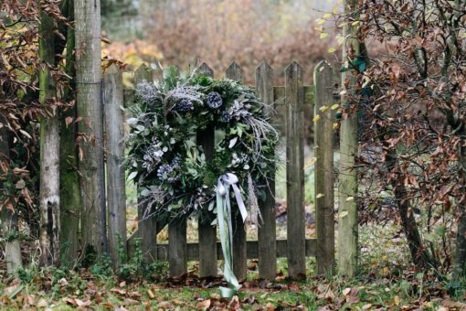 Silver Woodland Christmas Wreath Oxfordshire